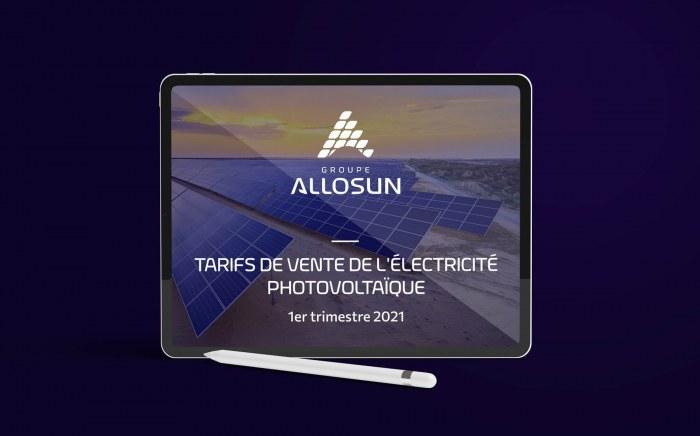 Groupe-Allosun Tinténiac Ille-et-Vilaine Bretagne 35 - Tarifs de vente de l'électricité photovoltaïque 1ER trimestre 2021