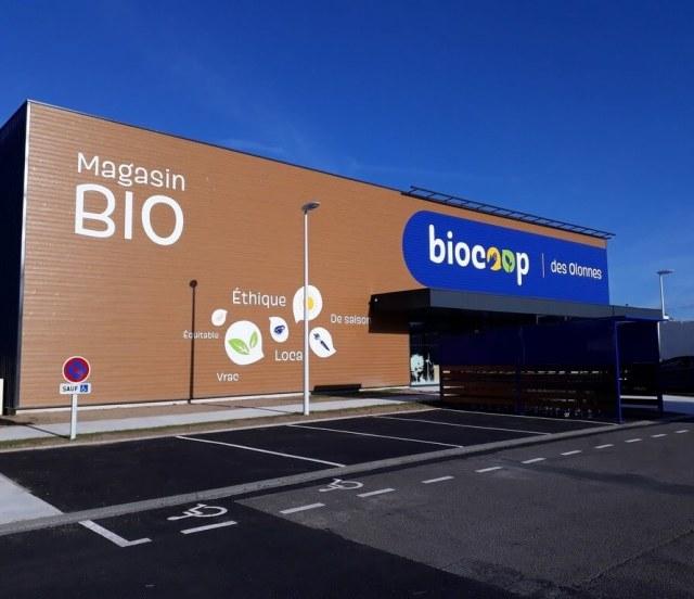 Groupe-Allosun Tinténiac Ille-et-Vilaine Bretagne 35 - Pose au biocoop des Olonnes en Vendée